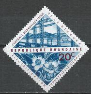 Rwanda 1967. Scott #202 (M) Ntaruka Hydroelectric Statios, Tea Flowers * - Rwanda