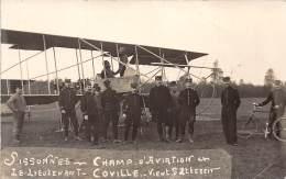 02 - AISNE / Sissonne - 023278 - Carte Photo - Aviation - Le Lieutenant Coville - Sissonne