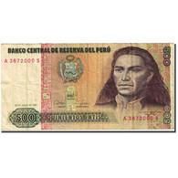 Billet, Pérou, 500 Intis, 1985-1991, 1987-06-26, KM:134b, TB - Pérou