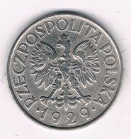1 ZLOTY 1929 POLEN /1640G/ - Pologne