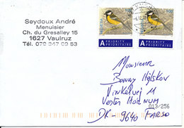 Switzerland Cover Sent To Denmark 6-12-2008 Topic Stamps BIRDS - Danemark