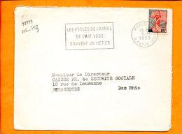 PARIS, Paris 116, Flamme à Texte, Les écoles De L'armée De L'air Vous Donnent Un Métier - Marcophilie (Lettres)