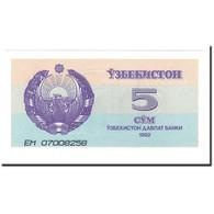 Billet, Uzbekistan, 5 Sum, 1992 (1993), KM:63a, SPL+ - Ouzbékistan