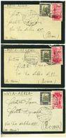 LIBIA  - LOTTO DI 6 LETTERE LISTATE A LUTTO ANNO 1940 DA ZUARA MARINA PER ROMA - Libia