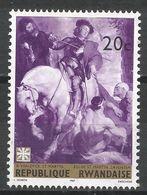 Rwanda 1967. Scott #211 (M) Painting, St. Martin By Van Dyck, Caritas Emblem * - Rwanda