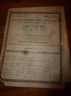 1946 Compagnie Du SOLEIL , Assurance Contre Les Accidents De Chasse Au Nom De Kesseller Marcel à Gissey-sous-Flavigny - Autres Collections