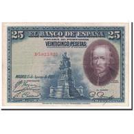 Billet, Espagne, 25 Pesetas, 1928, 1928-08-15, KM:74b, TTB+ - [ 1] …-1931 : Premiers Billets (Banco De España)