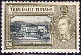 TRINIDAD & TOBAGO 1938 SG #253 24c MNH CV £8.50 - Trinidad & Tobago (1962-...)