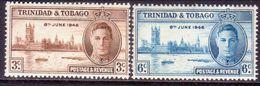 TRINIDAD & TOBAGO 1946 SG #257-58 Compl.set MNH Victory - Trinidad & Tobago (1962-...)