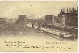 Souvenir De TOURNAI - L' Escaut Et La Pont Des Trous - Nels Série 48 N° 6 - Tournai