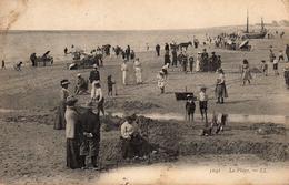 CPA Somme - 5041 - La Plage D'Onival En 1915, Animation De Plage Et Drapeau Tricolor, Promenade En Âne, Attelage, Bateau - Ault