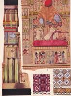 ART ANTIQUE. DETAILS D'ARCHITECTURE DES HYPOGEES D'EL AMARNA, EGYPT-LAMINA SHEET PLANCHE-BLEUP - Afiches