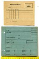 2x HJ-Dokument, > #* Karteikarte(A5),Stärkemeldung (Blanco)*#,3.Reich,document Allemand - Deutschland