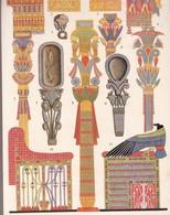 ORNAMENTATIONS EN BOIS. EGYPT. ART ANTIQUE-LAMINA SHEET PLANCHE-BLEUP - Afiches
