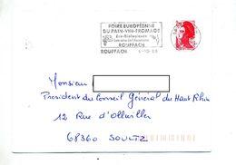 Lettre Flamme Rouffach Foire Pain Vin - Mechanical Postmarks (Advertisement)