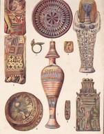 CERAMIQE EGYPTIENNE. ART ANTIQUE-LAMINA SHEET PLANCHE-BLEUP - Afiches