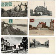 24 CP_Train(BROONS_ St FARGEAU)Gares( IWUY_MONTEREAU_St JEAN De Losne_ LILLE)+Usine Mét.+ Rues Animées+ Folklore...N°25 - Cartes Postales