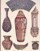 CERAMIQUE EGYPTIENNE. ART ANTIQUE-LAMINA SHEET PLANCHE-BLEUP - Afiches