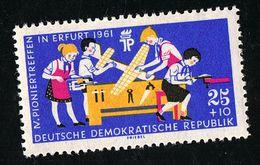 25.05.1961, Pioniertreffen Erfurt, 829 Postfrisch Xx WZ 3Y - DDR