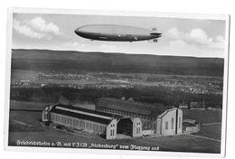 Allemagne - FRIEDRICHSHAFEN Mit LZ 129 -ZEPPELIN HINDENBURG Vom FLUGZEUG AUS (cp Voyagée En 1938) - Friedrichshafen