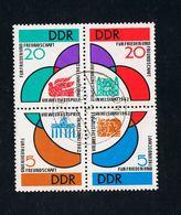 17. Juli 1962, Weltfestspiele Der Jugend Und Studenten Helsinki,Viererblock 901/04 Gestempelt O Siehe Scan - DDR