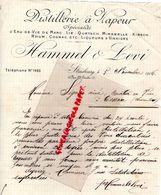 67- STRASBOURG- RARE LETTRE MANUSCRITE SIGNEE HAMMEL & LEVI-DISTILLERIE A VAPEUR-QUETSCH-MIRABELLE-KIRSCH-19067 - Food