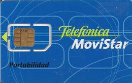 TARJETA GSM MOVISTAR PORTABILIDAD RARA - Tarjetas Telefónicas