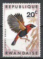 Rwanda 1967. Scott #239 (M) Bird, Red Bishop * - Rwanda