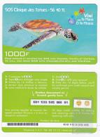 VINI Recharge De 1 000 FCFP - Verte / Tortue - Cartonnée - 1° Mle 12/2008 - Luxe - French Polynesia