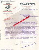 39- LONS LE SAUNIER- RARE LETTRE VVE A. DEVAUX- GRANDS VINS MOUSSEUX- ARBOIS-MAISON A EPERNAY-CHAMPAGNE-1904 - Food