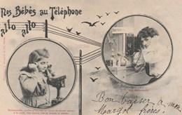 THEME ENFANCE   CPA  BERGERET  LES BEBES AU TELEPHONE - Enfants