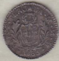 Perou . 1/2 Real 1835 MM . Argent. Rare.  KM# 144.1 - Peru