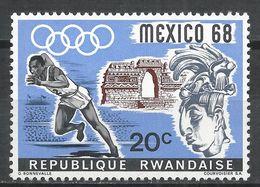 Rwanda 1968. Scott #250 (MNH) Olympic Games, Mexico City, Runner, Sculpture * - Rwanda