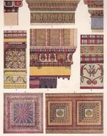 DETAILS DE CONSTRUCTIONS POLYCHROMES RESTITUES, GREC.-LAMINA SHEET PLANCHE-BLEUP - Posters