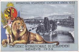 Cpa (litho) -sui-geneve-conference Du Desarmement 1932-lion, Armoirie-edi Jaeger - GE Genève
