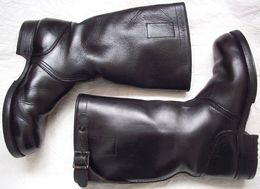 Old Germany Bundeswehr Army Soldier Leather Boots (size 38) - Equipment