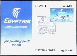 Egypt 2008 First Day Cover FDC EGYPTAIR A Star Alliance Member EGYPT AIR - Egypte - Egypt