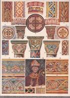 PEINTURE MURALE ROMANE. MOYEN AGE FRANCE.-LAMINA SHEET PLANCHE-BLEUP - Posters