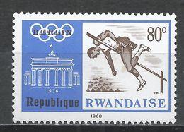 Rwanda 1968. Scott #269 (MNH) Olympic Games, High Jump, Berlin 1936 * - Rwanda