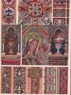 PEINTURE MURALES GOTHIQUES. MOYEN AGE FRANCE.-LAMINA SHEET PLANCHE-BLEUP - Afiches