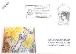 ITALIA - 2000 CROTONE Sulla Via Del Giubileo - La Bibbia Di Marc Chagall Incisioni (stemma) Targhetta Meccanica - 1398 - Christianisme