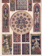 MOSAIQUE DE CARRELAGE,PEINTURE SUR VERRE DU STILE OGIVAL PRIMAIRE EN FRANCE AU XIIIs-LAMINA SHEET PLANCHE-BLEUP - Posters
