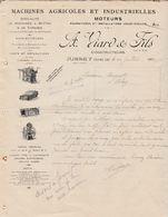 Facture 1912 / A. VIARD / Constructeur Machines Agricoles / Moteurs E.V. / 70 Jussey - France