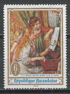 Rwanda 1969. Scott #286 (M) Painting, Young Girl At The Piano, By Renoir * - Rwanda