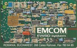 CARTE-PUCE-ROUMANIE-1993-GEM1-10000 Lei-ROMTELECOM-EMCOM-EWSD System-BE - Roumanie