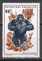 Rwanda 1970. Scott #362 (M) Animal, Mountain Gorilla * - Rwanda
