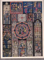 MOSAIQUE DE CARRELAGE,PEINTURE SUR VERRE GOTHIQUES-LAMINA SHEET PLANCHE-BLEUP - Afiches