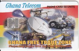 GHANA - Earth Station, Free Trade Zone, 11/00, Used - Ghana