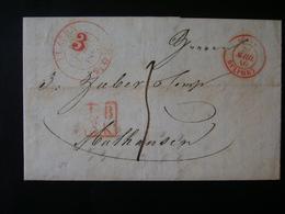 LETTER SENT FROM LUZERN (SWITZERLAND) IN 1840 IN THE STATE - Switzerland