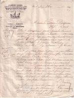 "PARIS - "" A L'ANCIEN COCHER "" , CIRAGE & BROSSERIE , RUE CHABROL , 18 - ROULAND - LETTRE - 1866 - France"